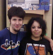 Corey Strite and his wife, Shanae, at the Portland Retro Gaming Expo in 2010