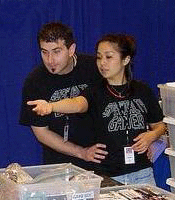 Gerald Levinson and his wife Rie at the Classic Gaming Expo in 2010